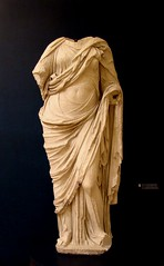 Portrait of a woman in himation (F. Tronchin) Tags: portrait sculpture copenhagen roman marble drapery plotina himation