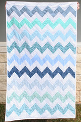 Ocean Chevron Quilt Front (Julia Marie ) Tags: blue white green quilt sewing chevron zigzag