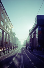 Landscape with mist. Morning. (Daire Quinlan) Tags: street city dublin mist colour film 35mm diy big kodak mini canyon 400 konica portra compact 400asa asa400 pearse c41 bm302 compact35mm
