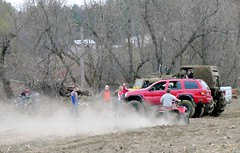 Waiting to go in the Bog/obstacle course (Bridgette Peck) Tags: family girls friends silly boys pretty jeep mud offroad sweet lol smiles competition messy laugh trucks wheeling