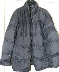 discarded black nylon puffa coat (longyman) Tags: ladies abandoned rotting trash found clothing junk shiny coat down clothes jacket rubbish waste discarded nylon downcoat waterproof landfill thrown padded rotted downjacket dugup thrownaway nyloncoat pufferjacket bubblejacket puffajacket nylonjacket puffercoat puffacoat bubblecoat