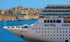 Costa neoRomantica (albireo2006) Tags: cruise blue sea wallpaper sky costa water mediterranean ship background cruiseship isla bows liner valletta romantica cruiseliner prow grandharbour floriana costaromantica senglea costacrociere lisla v18 costacruises costaneoromantica neoromantica valletta2018