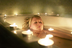 111111 (burnashburn) Tags: light green water girl fog hands bath glow candle sink skin strangle blonde wax float choke 111111
