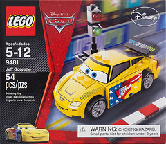 Lego Cars2 Jeff Gorvette box (Brick Resort) Tags: brick cars lego box disney resort jeffgordon cover pixar nascar boxcover 9481 cars2 legocars legodisney legopixar brickresort