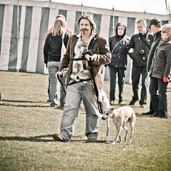 Northern Bloke with Whippet (whitbywoof) Tags: rescue dog pet whippet rob h billy pedigree rob