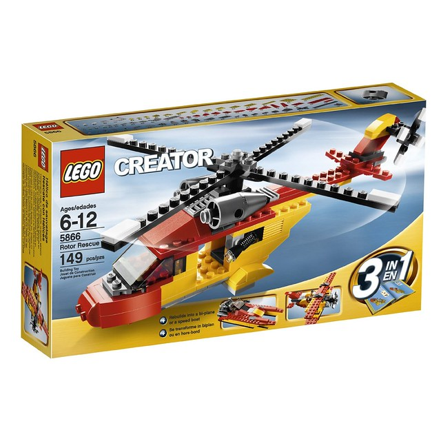 乐高 LEGO Creator Helicopter 5866 创意百变组 救援直升机 $11.18