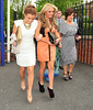 Coleen Rooney with a friend and her mother Colette McLoughlin Ladies Day at Chester Racecourse Cheshire, England