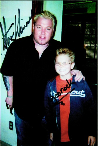 With Steve Harwell (Smashmouth) filming Mervyn's Back to School commercial