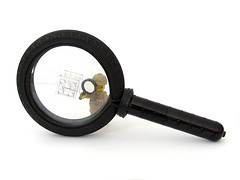 Magnified (Littlehaulic) Tags: lego magnifyingglass sherlockholmes