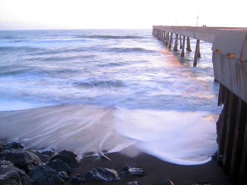 Pacifica Fishing Pier at dusk, long exposure