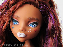 Clawdeen Ganguro Style repaint (happy dolls) Tags: cute monster japanese high doll forsale sweet adorable kawaii bjd etsy custom happydolls ganguro fa fs gyaru repaint foradoption clawdeen hellohappy