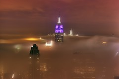 New York City on May 15, 2012 (mudpig) Tags: nyc newyorkcity longexposure cloud mist newyork reflection rain fog skyline night geotagged newjersey jerseycity cityscape worldtradecenter nj gehry esb empirestatebuilding gothamist frankgehry verrazanobridge hdr topoftherock observationdeck goldmansachs gracebuilding freedomtower mudpig stevekelley beekmantower 8sprucestreet 8spruce oneworldtrade stevenkelley newyorkbyfrankgehry
