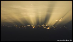 crepuscular rays -   (moshek70) Tags: sunset sky weather clouds sunrise israel jerusalem   crepuscularrays