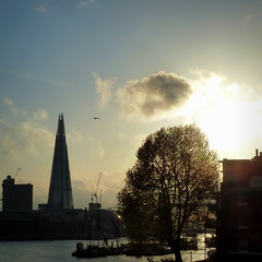 London - The Shard, City Hall and Tower Bridge at sunset (jjamv, c