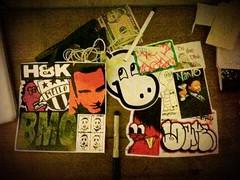 Combos (Mello Stickers) Tags: street art skateboarding turtle top stickers nano hippos bmc combos mello h8k assaian