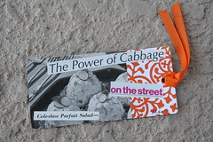 """The Power of Cabbage"" - Congealed Salad Gift Tag Set (1/4) (Martha Merry) Tags: original strange collage vintage salad martha handmade tag gift merry jello congealed gifttag marthamerry"