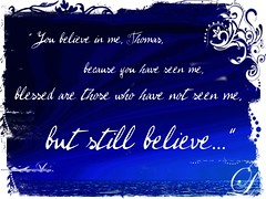 """""""Blessed are those who have not seen but still believe."""" (Art4TheGlryOfGod by Sharon) Tags: ocean blue love hope text faith christian believe inspirational scripture blessed encouragement doubtingthomas blessedarethosewhohavenotseenbutstillbelieve art4theglryofgod"""
