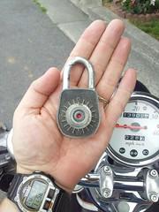 Westinghouse Gougler Lock (DieselDucy) Tags: lock westy padlock westinghouse reddot gougler keyless