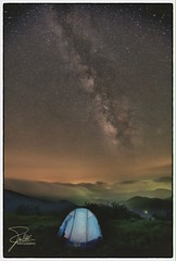 We are all made of stars - The Movie (Frank Kehren) Tags: camping night clouds canon stars unitedstates hiking tennessee northcarolina tent explore galaxy f28 appalachiantrail milkyway 1635 mountainhardwear roanhighlands ef1635mmf28liiusm canoneos5dmarkii janebald