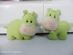 Hipos ( Varal de Algodo - Elis) Tags: handmade felt safari fabric feltro hipopotamo lembrancinha