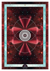 Vesica Piscis (TommBentley) Tags: eye circle square triangle geometry space shapes galaxy sacred colourful universe alchemy invert toroids imageinsideanimage