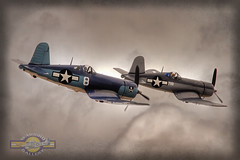 Corsair Pair (glenhaas309) Tags: vintage marine fighter aviation wwii navy fame planes ww2 corsair f4 warbird f4u