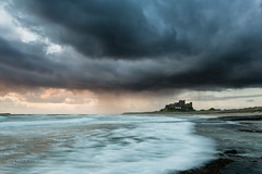 Stormy sky over Bamburgh (images through a lens) Tags: ocean sea storm castle northumberland northsea northeast bamburgh fortress
