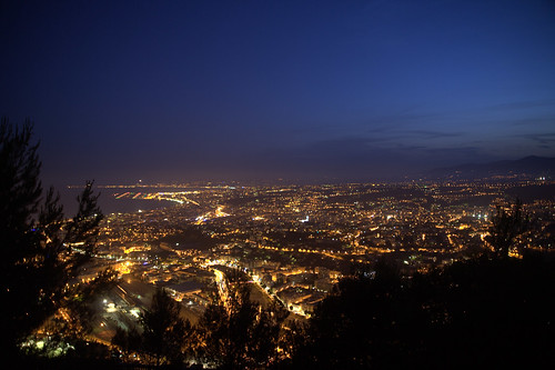 Nice by night from the observatory