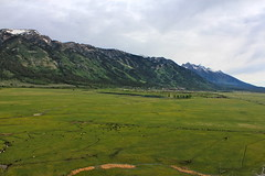 Mountain View (andrewpug) Tags: blue mountain green beautiful scenery hotairballoon wyoming jacksonhole