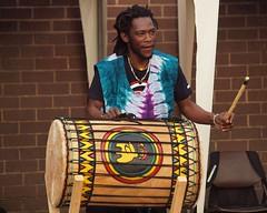 Ibro playing the Dundumba (sab89) Tags: liverpool african djembe chester drummer drummers wirral cisse tamala sekou kelsall kompo dundun ibro soumah laminie