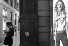 to be vs. to appear (Fleccki) Tags: street city girls people urban blackandwhite bw women strada fuji candid streetphotography bologna fujifilm blackdiamond xe1 lunaphoto urbanarte streetpassionaward fujixseries fujinonxf35mm fujifilmxe1 fujixe1