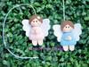 Anjinho Baby (Artes de uma Larissa) Tags: feitoàmão batizado bebê feltro nascimento maternidade anjinho batismo lembrancinha marcadordelivro anjinha anjinhobaby