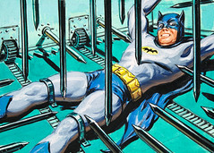 Spikes of Death by Norman Saunders (Tom Simpson) Tags: television illustration vintage comics painting tradingcard bondage bdsm comicbook batman 1960s bound trap topps adamwest spikesofdeath batman1966 normansaunders