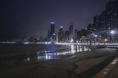 (hitmanfre1) Tags: longexposure blue chicago beach skyline illinois nikon downtown purple angle gothic wide chitown tokina chiraq northavenuebeach nikond3200 d3200 1116mm