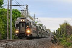 NJTR 7035 @ Basking Ridge, NJ (Adrian Corus) Tags: car train branch cab nj rail line ridge commuter passenger gladstone njtransit basking bombardier njt newjerseytransit multilevel 6431 7035 njtr