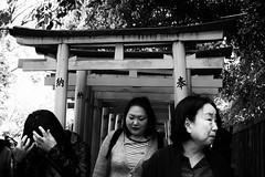 Tripartie (www.danbouteiller.com) Tags: people blackandwhite bw white black monochrome japan canon asian temple japanese 50mm tokyo blackwhite women shrine asia noir noiretblanc monochromatic 50mm14 nb 5d canon5d blanc japon japonais asiatique nezu japonaise japonaises 5d2 5dmk2