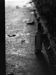 Bottles (Sam Rushton Photos) Tags: blackandwhite white black 120 mamiya film monochrome bristol 645 bottles spirits medium format analogue ilford mamiya645