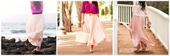 pink maxi skirt collage   3 ways to style a pink maxi skirt (kileen   cute & little blog) Tags: pink 3 collage o style s skirt ways maxi   picmonkey