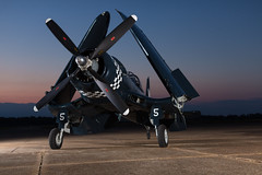 Corsair F4U-5N fighter plane (Tate Nations) Tags: mississippi airport greenwood corsair f4u airplanehangar deltasupperclub kimmelhangar leforeairport