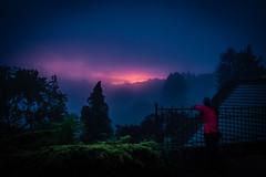 Le Soleil s'est couché (Clydomatic) Tags: ciel arbres nuit coucherdesoleil lapetitepierre