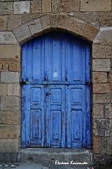 - Rodos island (Eleanna Kounoupa) Tags: door blue traditional greece oldtown rodos architecturaldetails   historicalcenter  dodecaneseislands  hccity