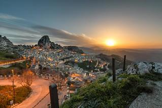 Caltabellotta, Sicily, at dawn