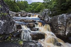 Blackwater Falls, Garve (Alex_Wyatt_Photos) Tags: uk black colour water landscape scotland waterfall highlands long exposure falls garve rogie