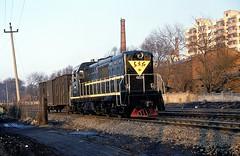 DFH5-0223  Harbin  17.03.94 (w. + h. brutzer) Tags: china analog train nikon eisenbahn railway zug trains locomotive harbin lokomotive diesellok eisenbahnen dfh5 dieselloks webru
