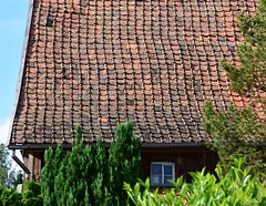 Handmade roof-tiles (Gerlinde Hofmann) Tags: roof window barn germany village handmade thuringia rooftile bürden