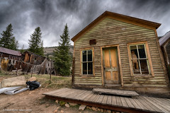 St. Elmo ghost town buildings (Vironevaeh) Tags: sky west history weather clouds outdoors colorado rustic 1800s mining alpine ghosttown photomerge dramaticsky hdr highdynamicrange americanwest stelmo highaltitude miningtown theamericanwest mountainous thewest saintelmo chalkcreek stelmocolorado historicminingtown historiccolorado historicwest