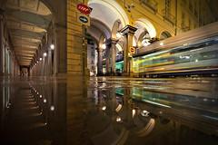 Movimento (Zz manipulation) Tags: city bus art tram colori notte veloce ambrosioni zzmanipulation