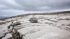 """Erratic"" Boulder on the Burren, 1 (Michael Foley Photography) Tags: ireland mountain stone wall clare limestone burren burke famine drystone gleninagh"