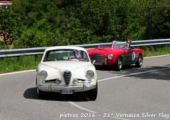 DSC_6567 - Alfa Romeo 1900 C SS - 1954 - Saporetti Paolo - CRAME (pietroz) Tags: silver photo foto photos flag historic fotos pietro storico zoccola 21 storiche vernasca pietroz