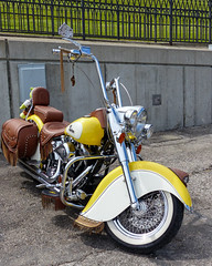 Leather Trimmed Out Indian Motorcycle With An S&S Motor (J Wells S) Tags: leather kentucky chrome newport monkeybars ohioriver newportonthelevee indianmotorcycle apehangers festivalpark riverboatrow newportmotorcyclerally ssvtwinmotor
